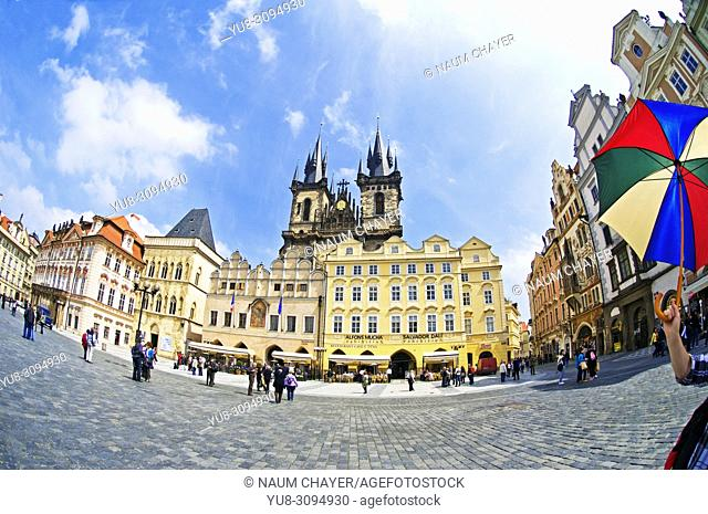 Old Town Square with Tyn Church, Prague ,Czech Republic, East Europe, Prague, Czech Republic, East Europe