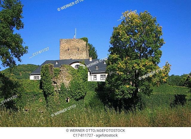 Germany, Obernhof, Lahn, Lahntal, Doersbach, Gelbach, Gelbachtal, Verbandsgemeinde Nassau, Naturpark Nassau, Westerwald, Rheinland-Pfalz, Schloss Langenau