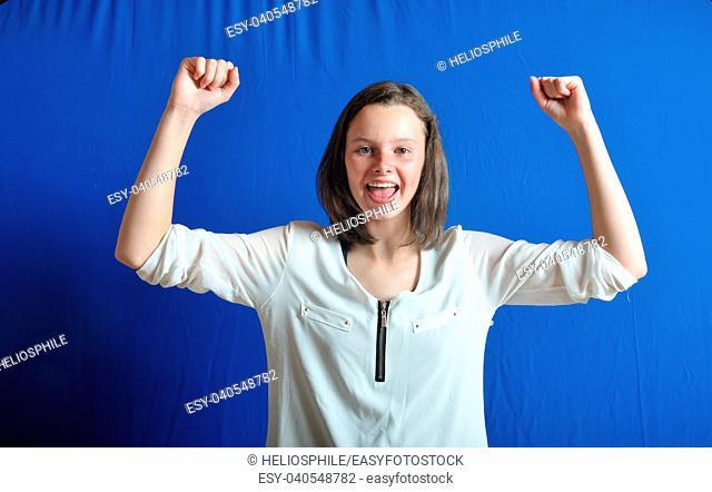 Portrait of a winning teen