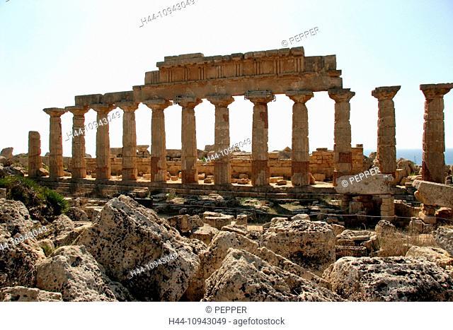 Italy, Europe, Sicily, Selinunte, temple, antiquity, archeology, Greek, columns, Acropolis, columns