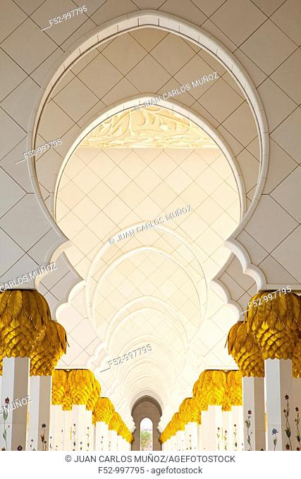 Sheikh Zayed Grand Mosque. Abu Dabhi. Emirate of Abu Dhabi. EAU. Persian Gulf. Arabia