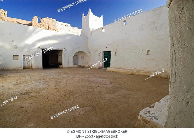 White mosque in the historic center of Ghadames, Ghadamis, Unesco world heritage site, Libya