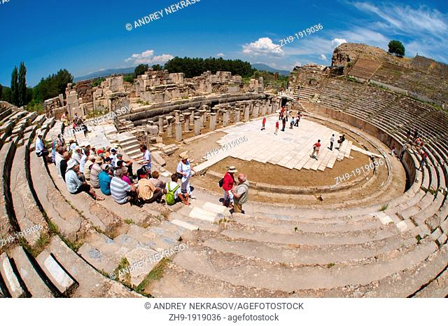 Roman theater, antique city of Ephesus, Efes, Turkey, Western Asia