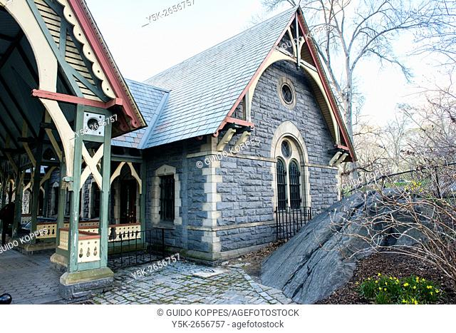 New York City, USA. Central Park's Diary House