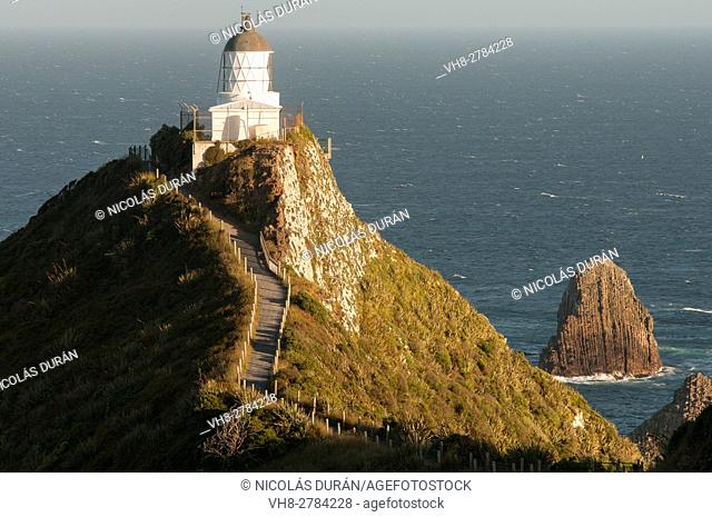 Nugget Point Lighthouse in South Island, New Zealand