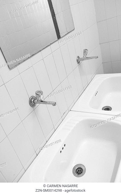 Sinks and mirror in urine