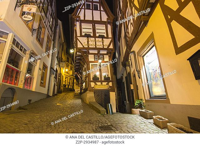 Bernkastel-Kues - town in Rhineland-Palatinate region of Germany Nightscape