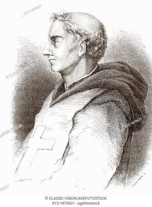 Fra' Filippo Lippi, ca  1406-1469, aka Lippo Lippi  Italian artist of the Italian Quattrocento  From Histoire des Peintres, École Florentine, published 1876