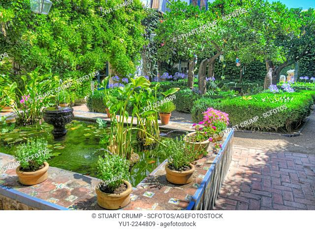 HDR of The Courtyard of the Orange Trees, Courtyards of Viana, Córdoba, Andalusia, Spain, Europe