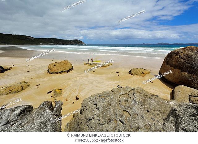 Granite Boulders and Sea Bay, Squeaky Beach, Wilsons Promontory National Park, Victoria, Australia