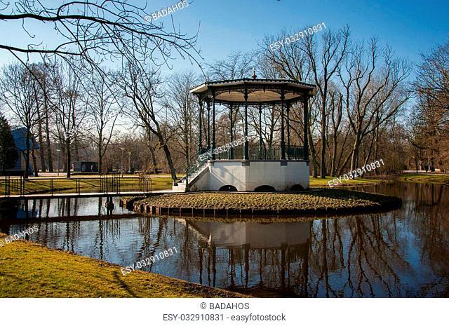 Spring vondelpark in Amsterdam