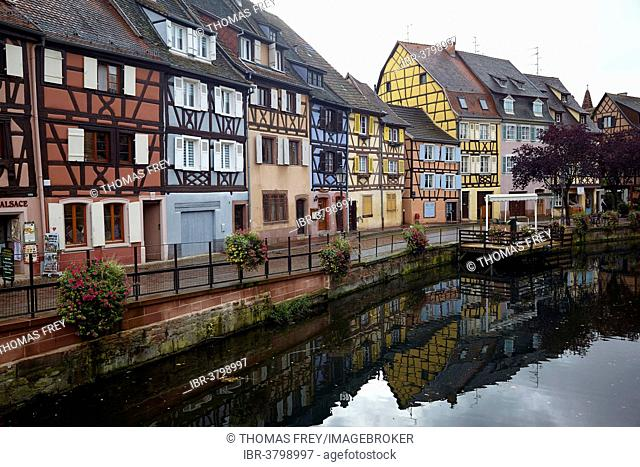 Half-timbered houses in Petite Venise district in the old town of Colmar, Alsace, France
