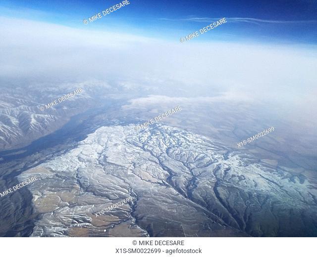 Cascade Mountain Range seen from above. Washington State, USA