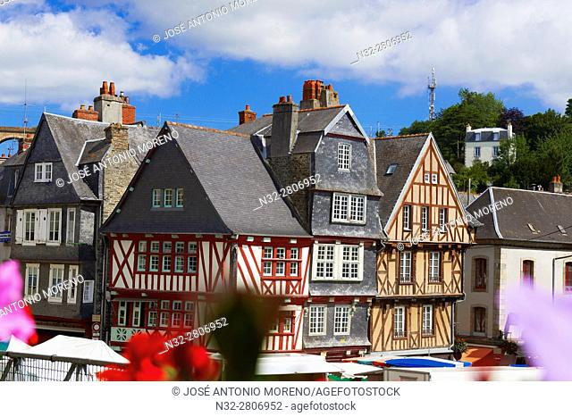Morlaix, Half Timbered Houses, Old Town, Bretagne, Brittany, Finistere, France, Europe