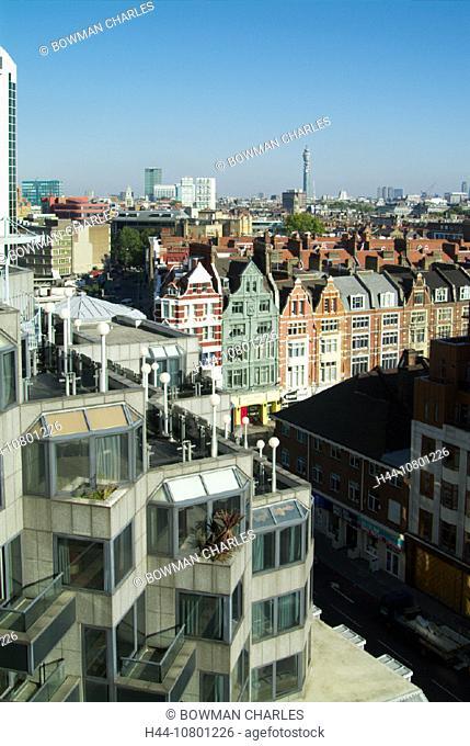 city, Dutch gables, Great Britain, Europe, London, metropolis Hilton hotel, overview, Paddington, town