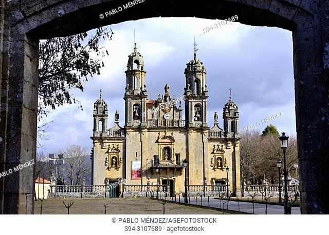 Basilica of Our Lady of Os Milagros, between Baños de Molgas and Maceda, Orense province, Spain