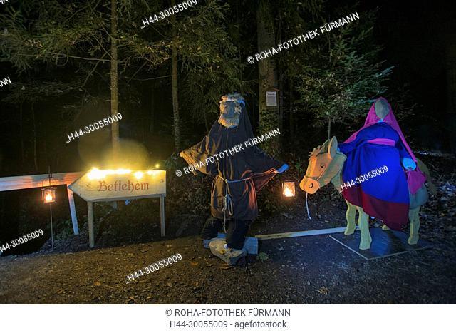 Bayern, Oberbayern, Berchtesgadener Land, Rupertiwinkel, Anger, Höglwörth, Hoeglwoerth, See, Laternenzauber, Laterne, Weihnachten, Brauch, Advent, Herbergsuche