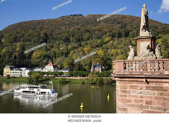 Germany, Baden-Württemberg, Heidelberg, Neckar River, Old Bridge
