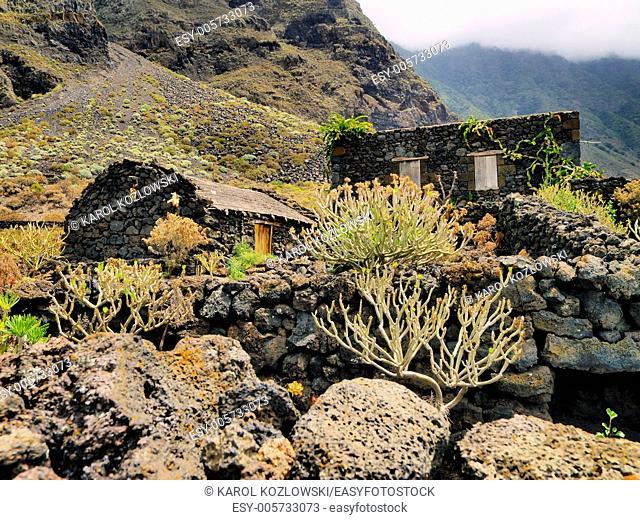 Open Air Museum Poblado de la Guinea on Hierro, Canary Islands, Spain
