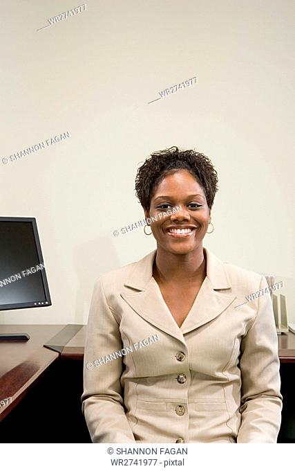 Businesswoman at her desk