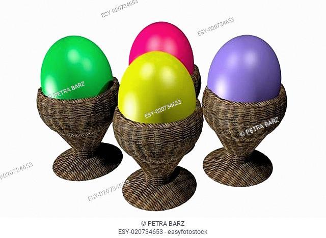 Ostereier Eierbecher