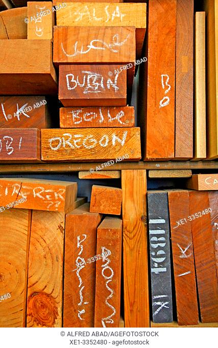 wood joinery workshop, industrial park, square Nou, Zona Franca, Barcelona, Catalonia, Spain
