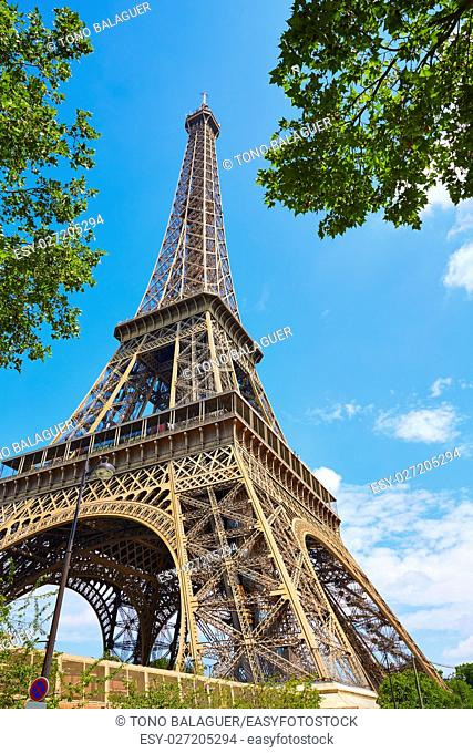 Eiffel Tower in Paris at France
