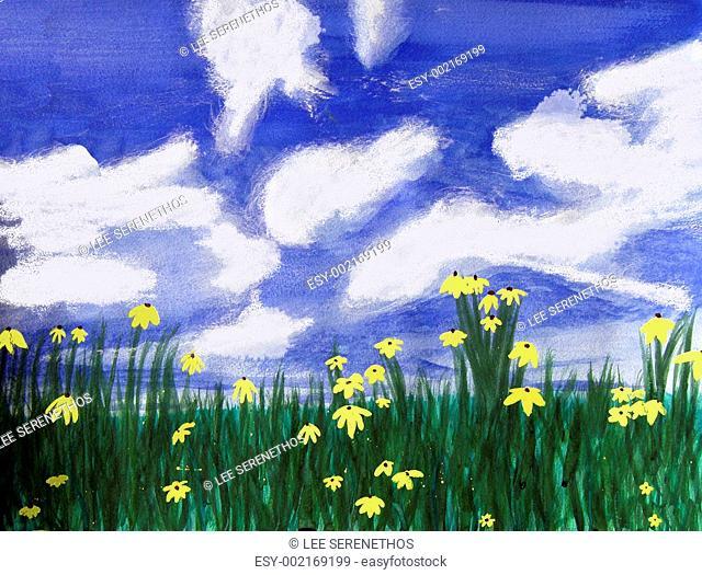 Flowers bright field, Florida