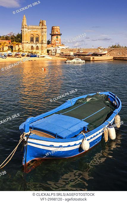 Tuna Florio at the Arenella - Vergine Maria small seaport at sunset