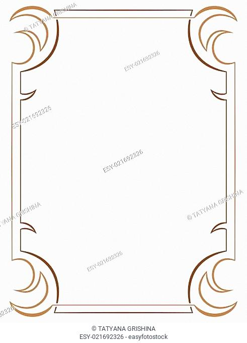 Vector simple vertical two-layer frame on white