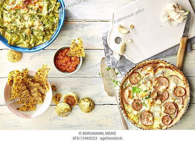 Various vegetarian dishes
