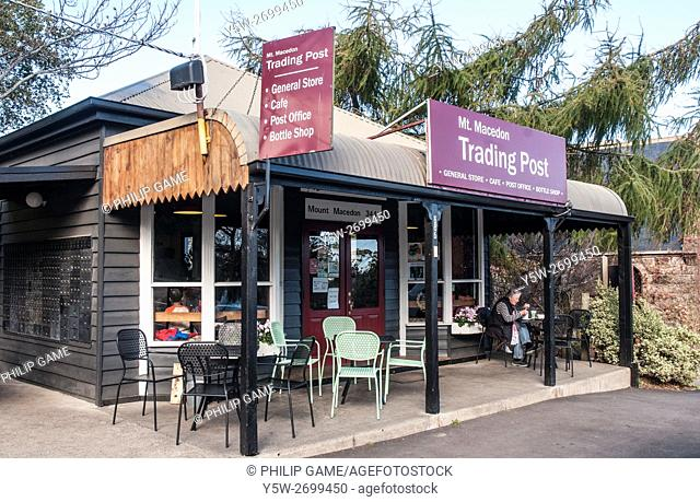 Mt Macedon Trading Post, a combined general store and cafe serving this hillside township outside Melbourne, Australia