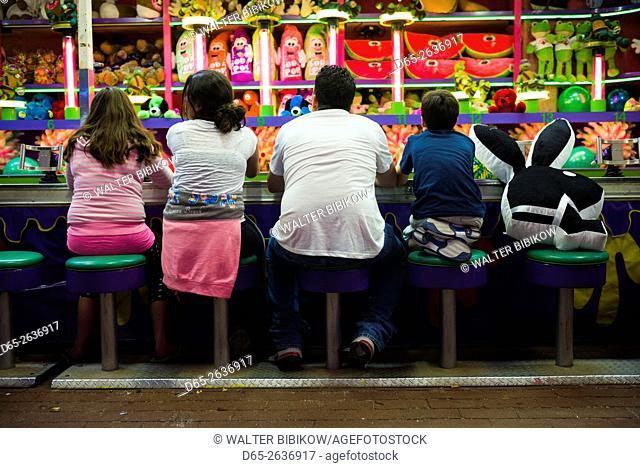 USA, Massachusetts, Cape Ann, Gloucester, people at the annual Saint Peter's Fiesta, NR
