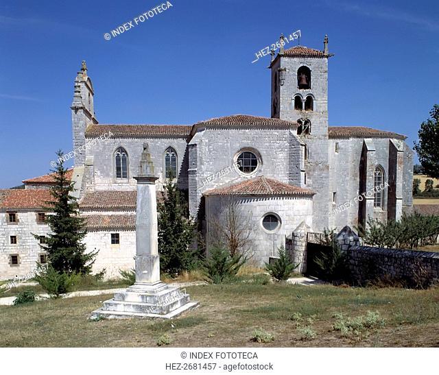 Exterior of the church of the monastery of San Pedro de Cardeña (Burgos)