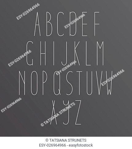 Alphabet Font Golden letters Icons ABC on black background
