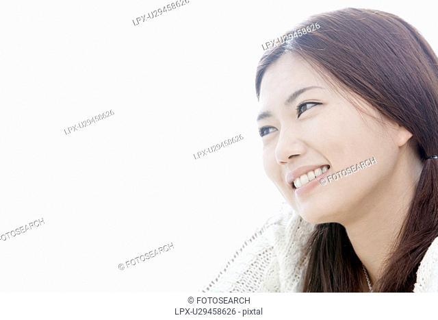 Young woman smiling, Tokyo Prefecture, Honshu, Japan