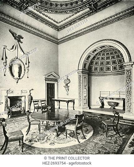 'Contrasted Interiors: Palladian - The Dining-Room, Holkham, Norfolk, by William Kent, with Regency Artist: Unknown