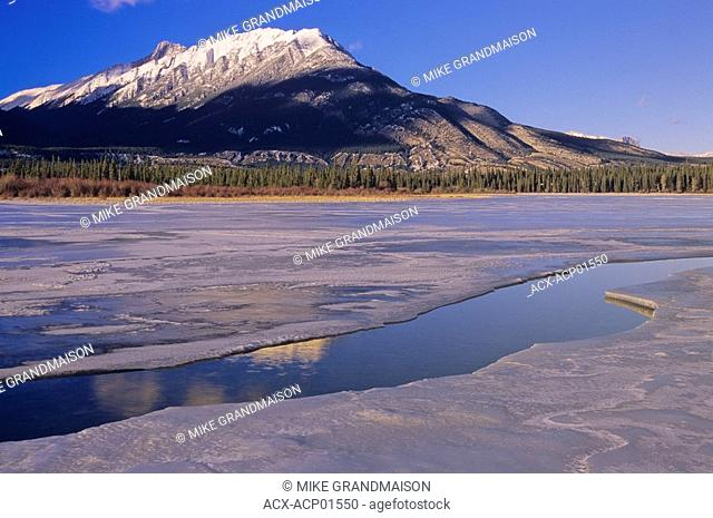 Jasper Lake in the Rocky Mountians, Jasper National Park, Alberta, Canada