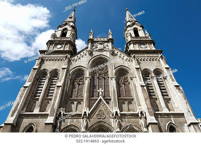 Church facade of St  Thomas of Canterbury, twentieth century, Aviles, Asturias, Spain