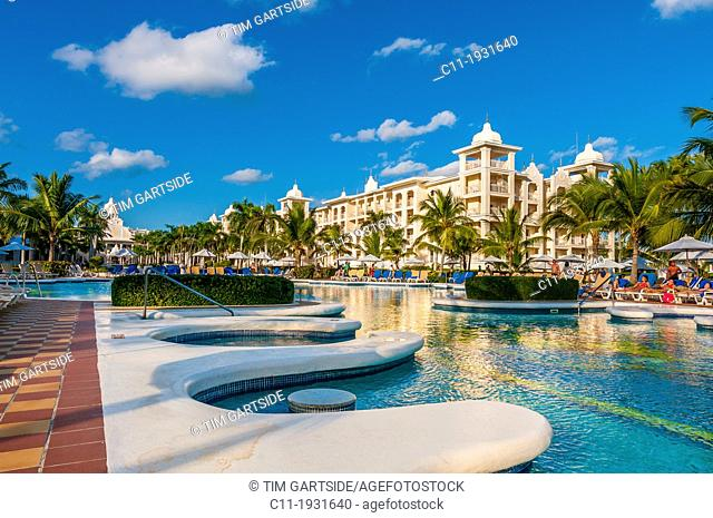 pool area, Riu Palace, hotel, Punta Cana, Dominican Republic, Caribbean
