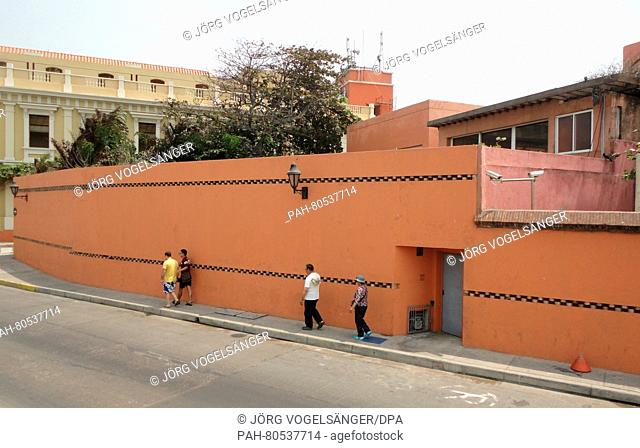 The home of the Garcia Marquez family in Cartagena de Indias, Colombia, 01 March 2016. The house is located near to the former La Merced monastery