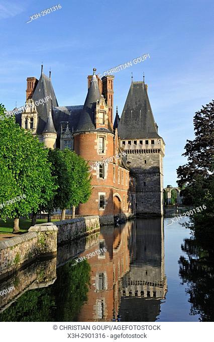 Chateau de Maintenon by the Eure river, Eure-et-Loir department, Centre-Val de Loire region, France, Europe