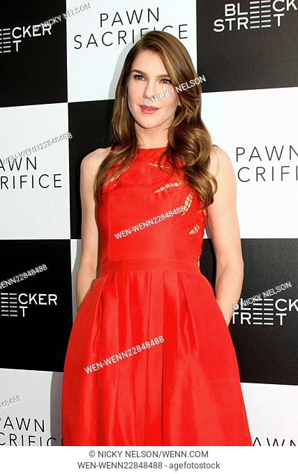 Premiere of 'Pawn Sacrifice' at Harmony Gold Theatre - Arrivals Featuring: Lily Rabe Where: Los Angeles, California, United States When: 08 Sep 2015 Credit:...