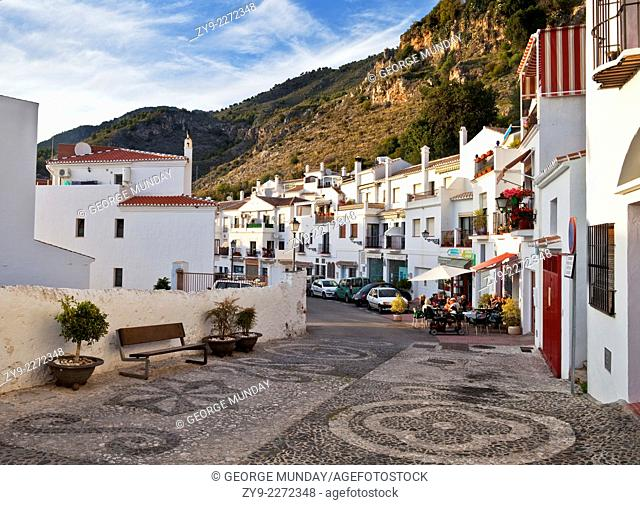 Frigiliana Street Scene, Costa del Sol,