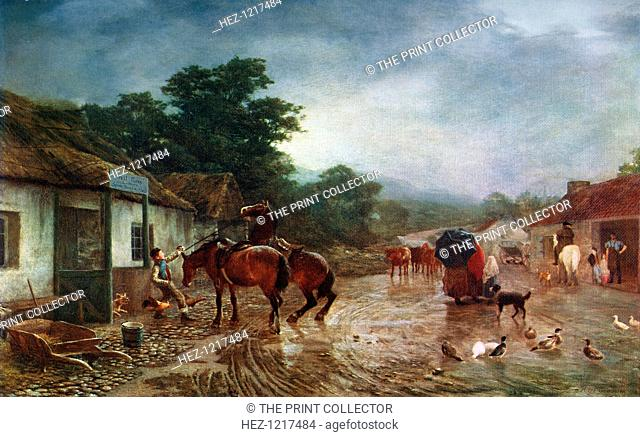 'A Rainy Day', 1870, (1912). A colour print from Famous Paintings with an Introduction by Gilbert Chesterton, Cassell and Company, London, New York, Toronto