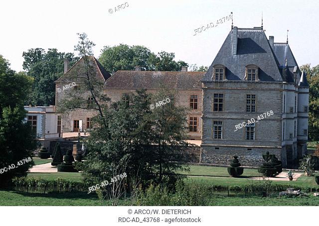 Castle Chateau de Cormatin Burgundy France