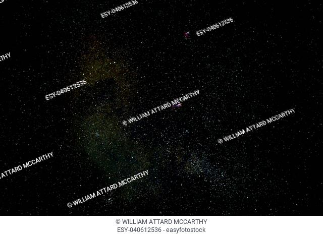Sagittarius Star Cloud with Omega and Eagle Nebulae, as well as M25 star cluster