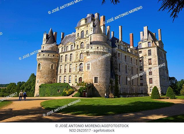 Brissac Castle, Brissac-Quince, Angers District, Maine-et-Loire department, Pays de la Loire, Loire Valley, UNESCO World Heritage Site, France, Europe