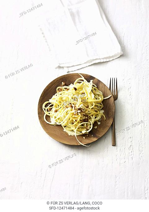 Golden beet pasta with horseradish