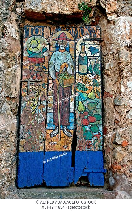 woodcut, Ramona Tower, Subirats, Catalonia, Spain